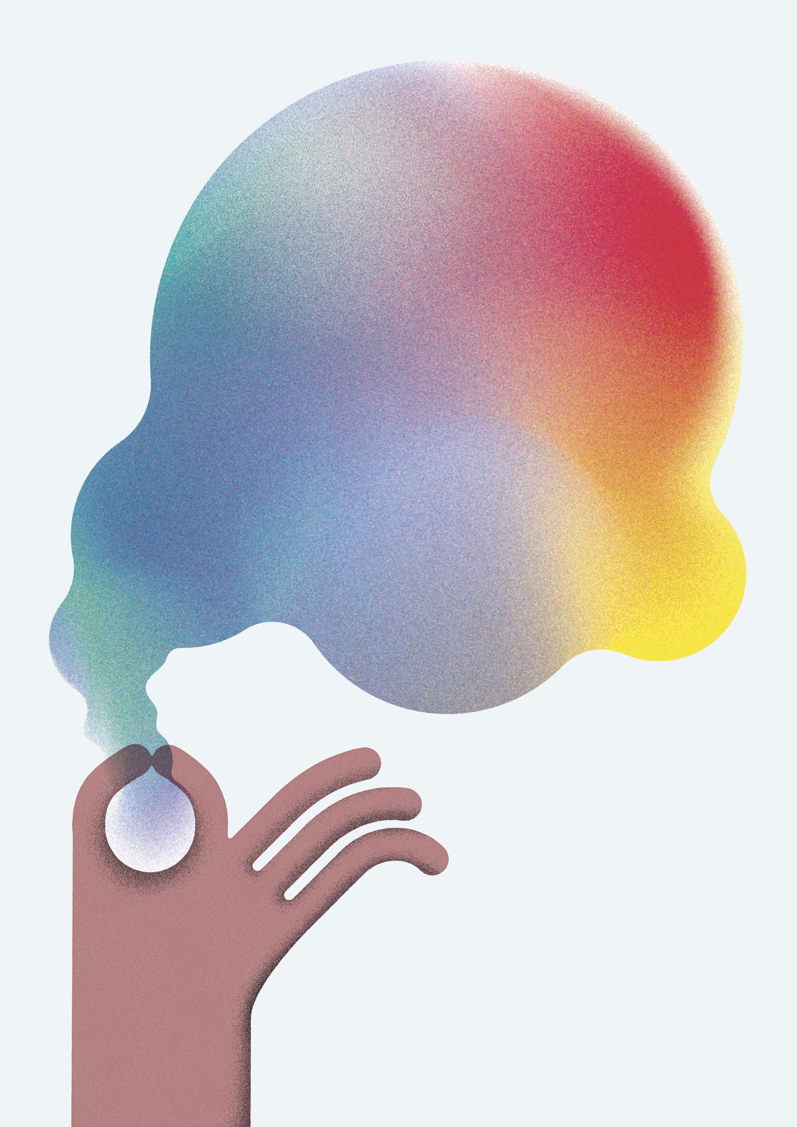 Werbemaßnahme-Seifenblase