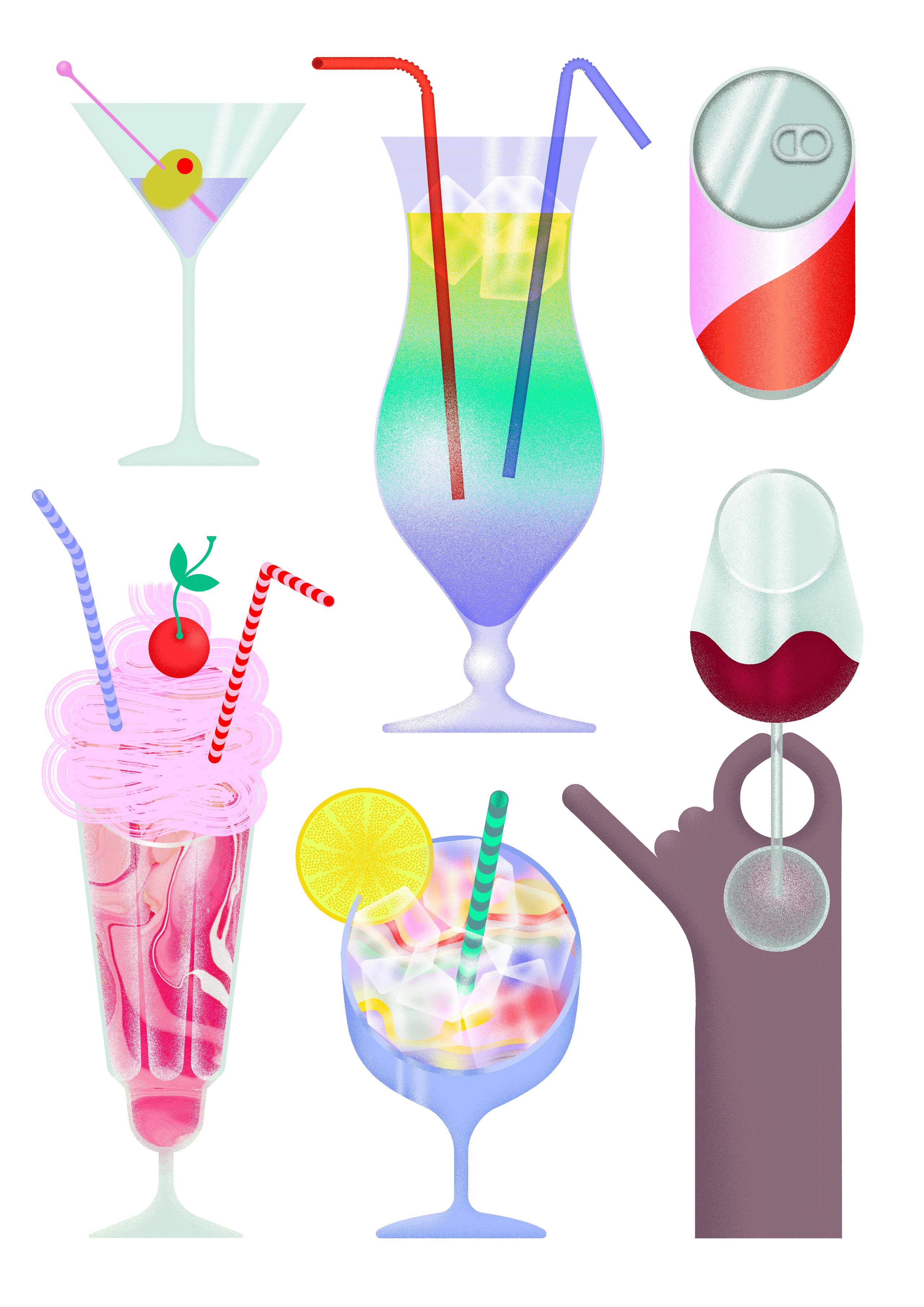 Julia-Schwarz-Illustration-Drinks